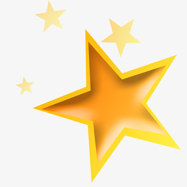 Yellow star student management, Simple, Frame, Stars Free PNG and PSD - Yellow Stars PNG HD