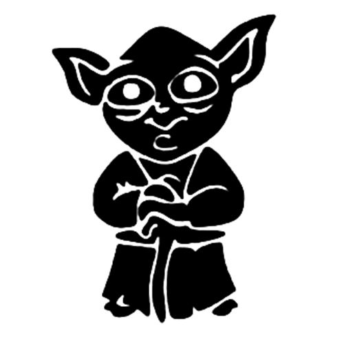 Yoda PNG Black And White - 40387