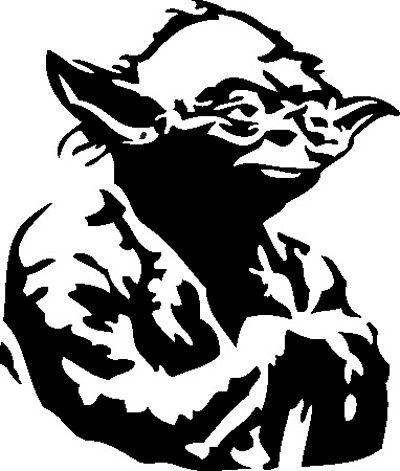 C3po yoda png black and white