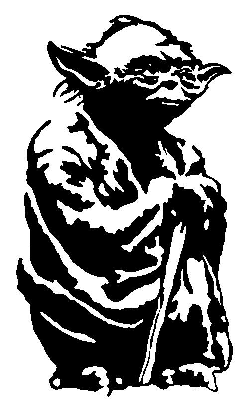 Yoda PNG Black And White - 40390