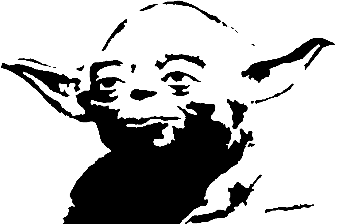 Yoda PNG Black And White - 40386