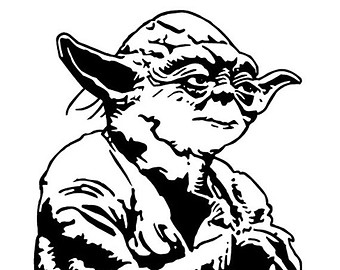 Yoda PNG Black And White - 40392