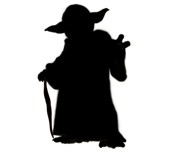 Yoda PNG Black And White - 40400