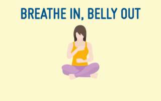 Belly Breathing - Yoga Breathing PNG
