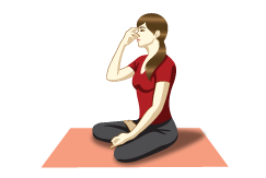 Bhramari Pranayama (Bee Breath) - Yoga Breathing PNG