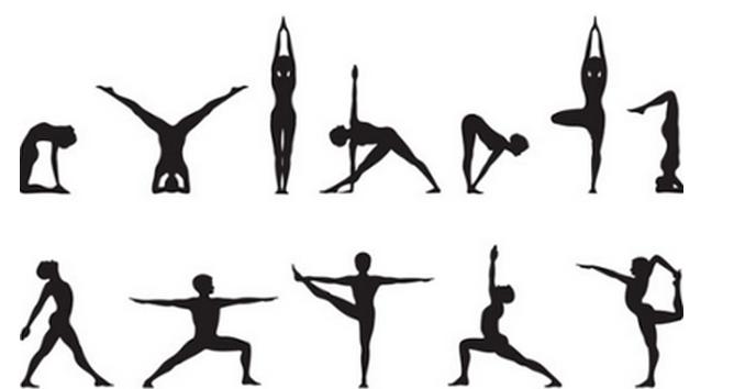 variety-of-yoga-poses - Yoga Poses PNG HD