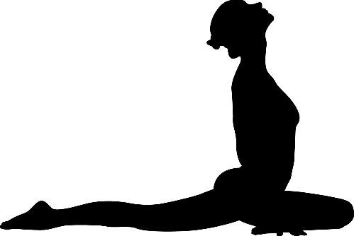 Yoga Pose Woman Chestup Silhouette - Yoga Poses PNG HD