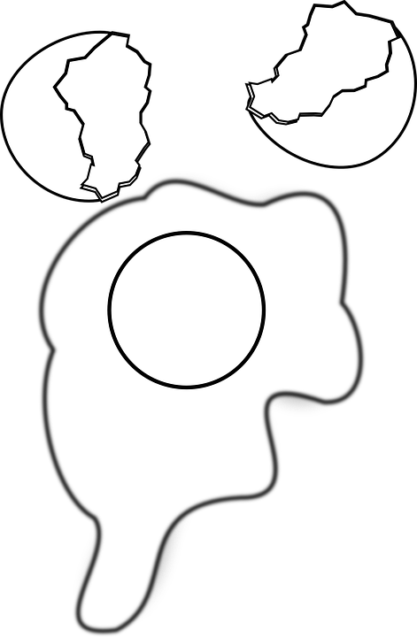 Yolk PNG Black And White