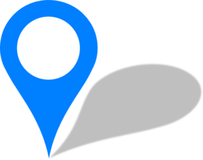 Blue Pin Clip Art - You Are Here PNG HD