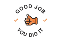 graphic with words good job you did it with a thumbs up donor u201c - You Did It PNG