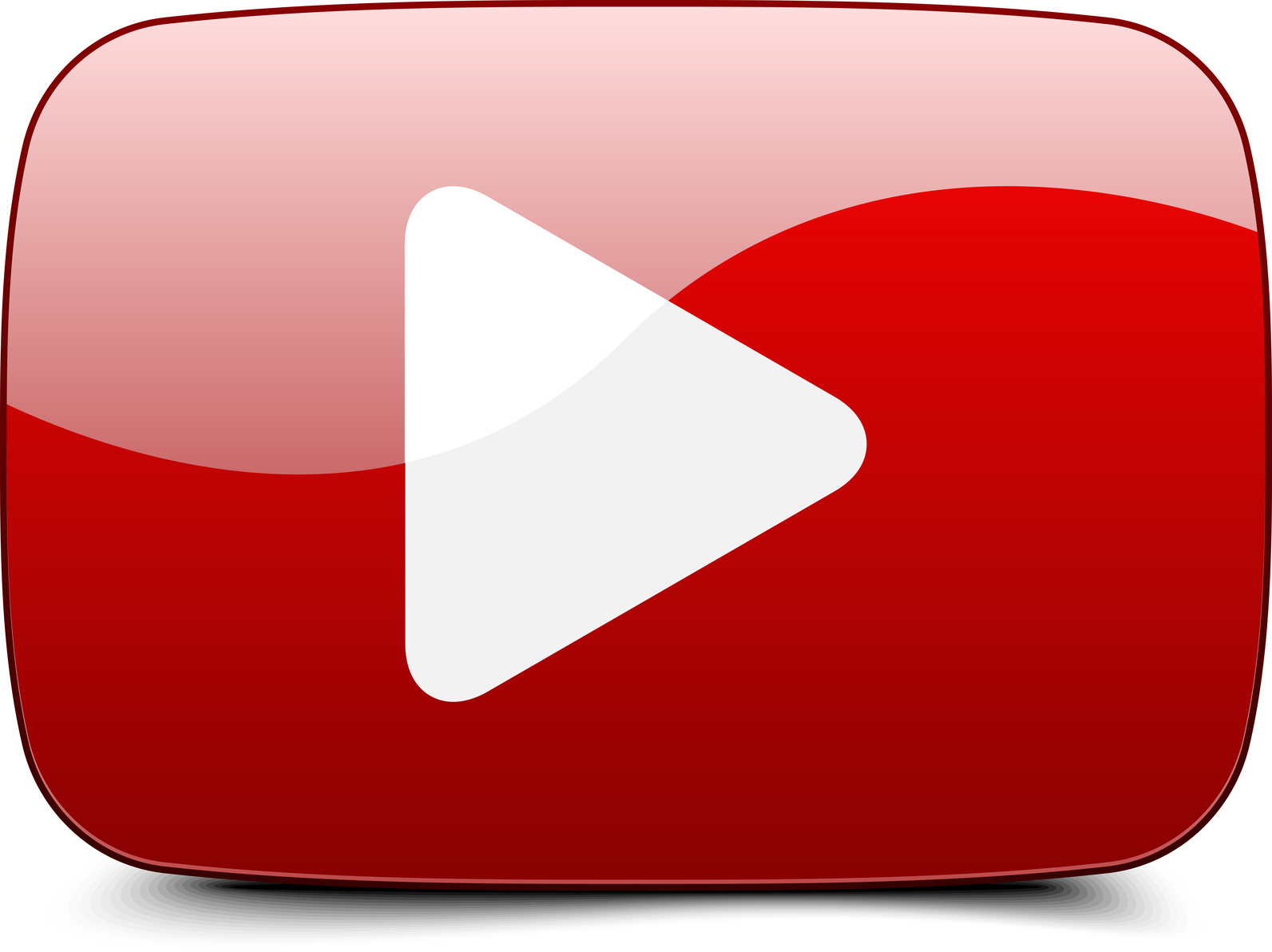 Free Youtube Play Logo Png, D