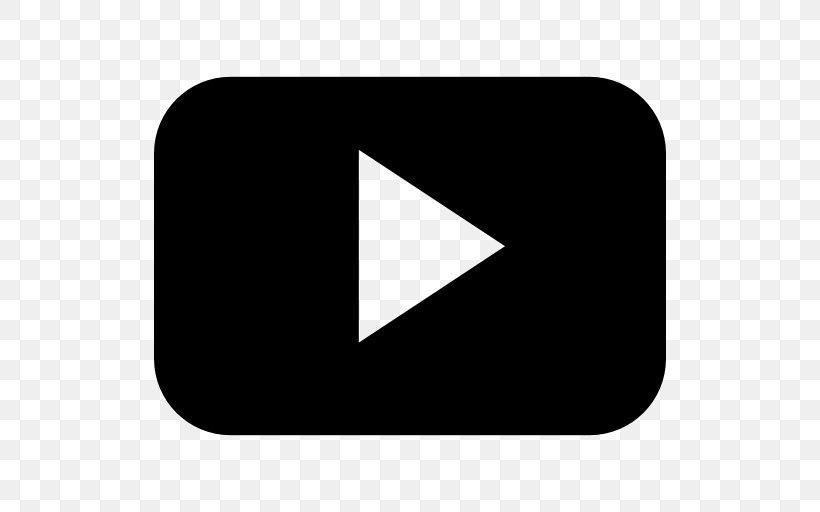 Youtube Play Logo, Png, 512x512px, Youtube, Black, Blackandwhite Pluspng.com  - Youtube Play Logo PNG