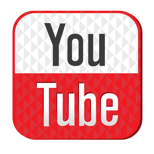 Youtube rubber icon png