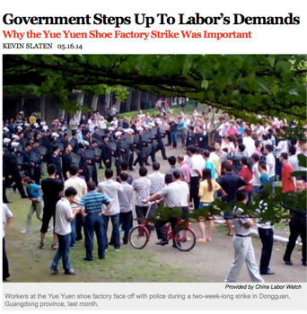 An analysis of the Chinese Governmentu0027s response to the Yue Yuen Shoe  Factory strike of 2014