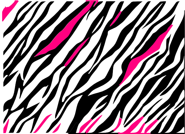 Download this image as: - Zebra Print PNG