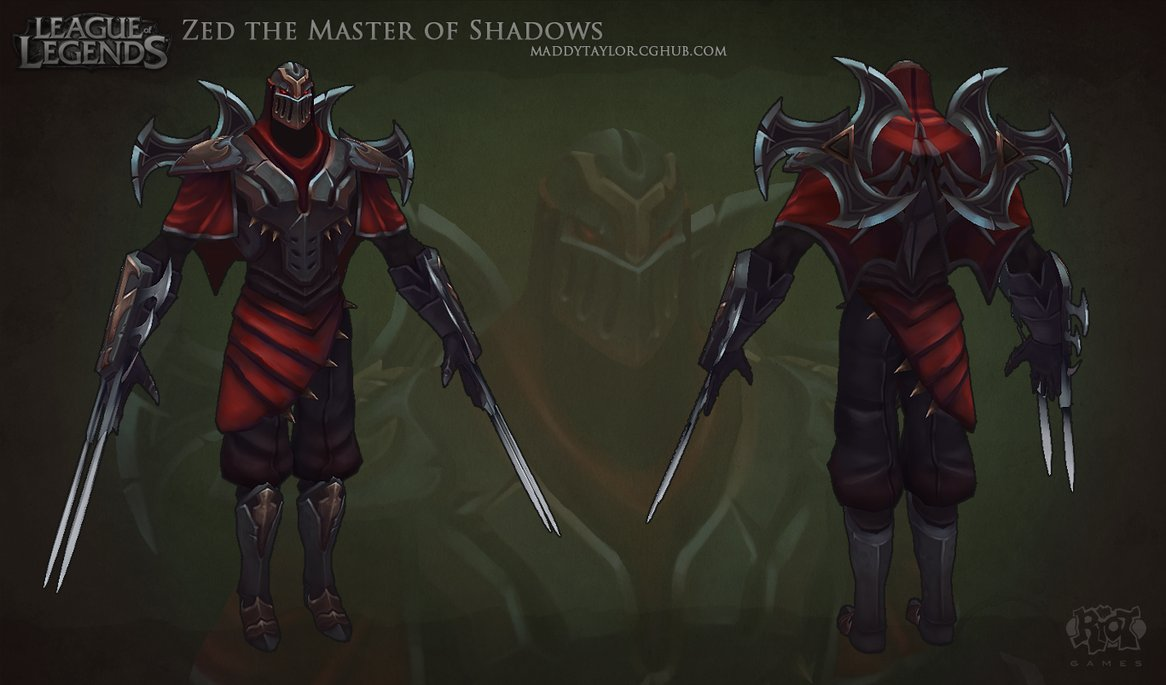 LoL: Zed the Master of Shadows by MissMaddyTaylor PlusPng.com  - Zed The Master Of Shadows PNG