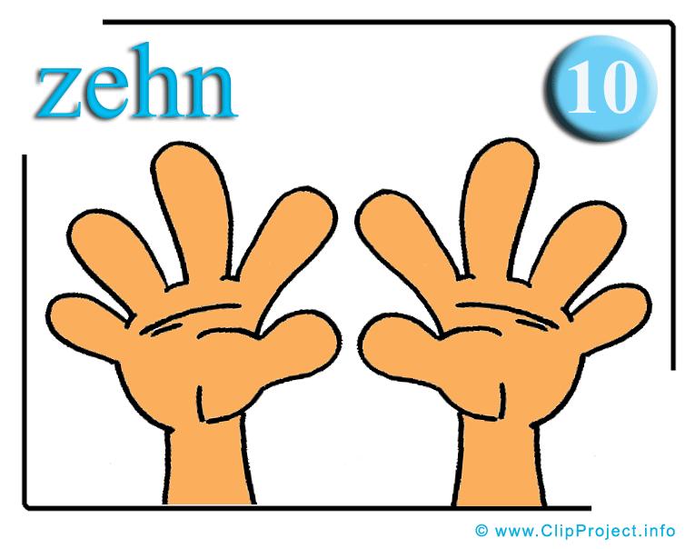 Zehn Finger PNG - 40894