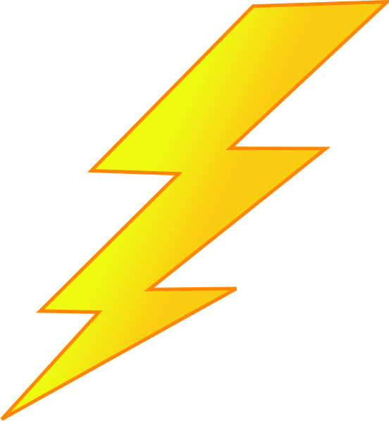 Lightning Bolt Clip Art at Clker - Zeus Thunderbolt PNG