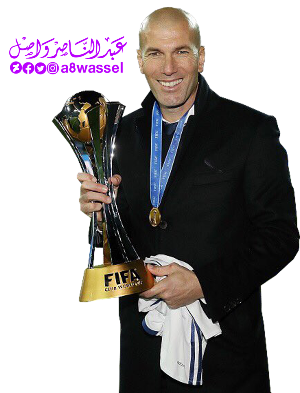 . PlusPng.com Zinedine Zidane - Real Madrid coach by A8WASSEL - Zidane PNG