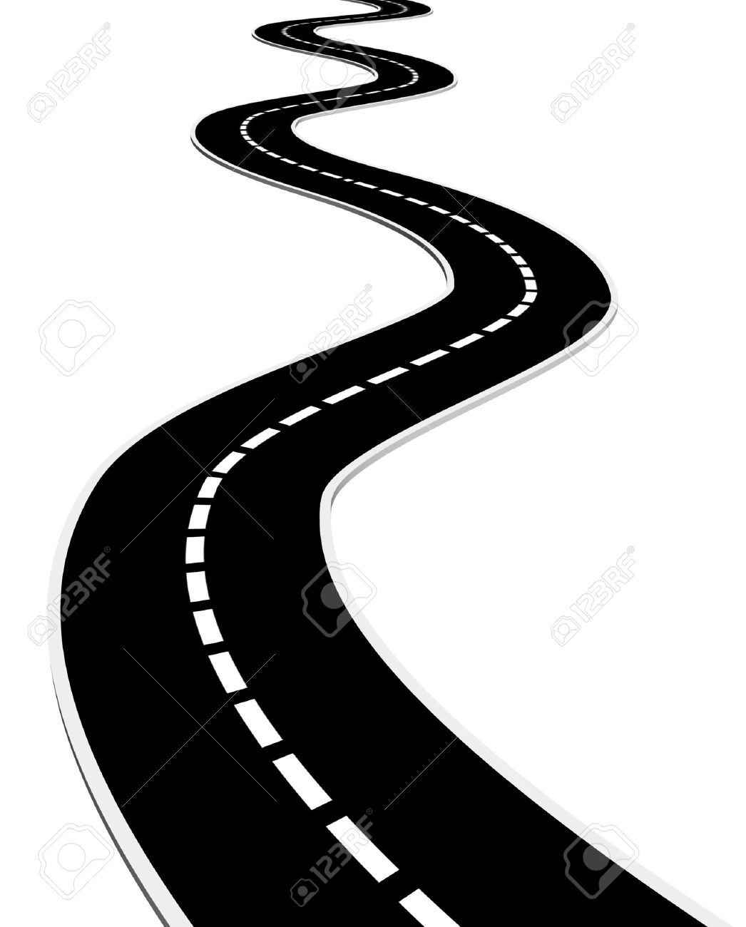 pin Way clipart curve road #2 - Zigzag Road PNG