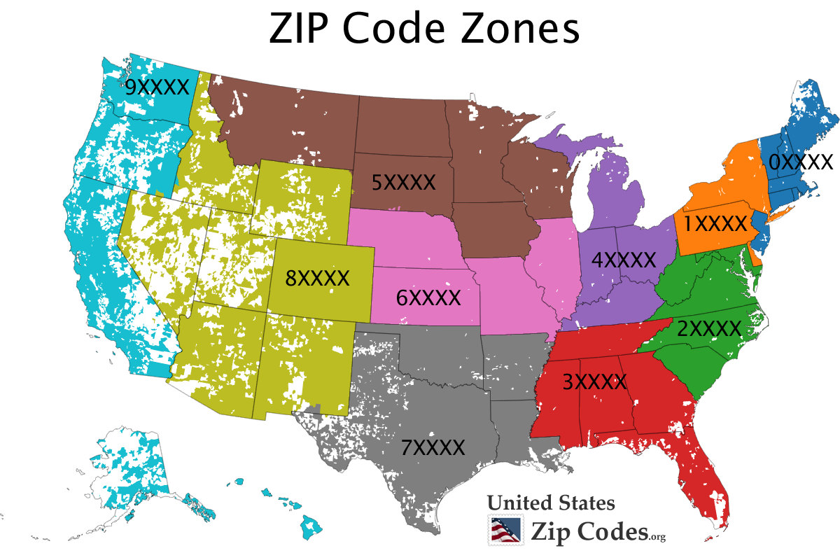 The first 3 digits of a ZIP code determine the central mail processing  facility, also called sectional PlusPng.com  - Zip Code PNG