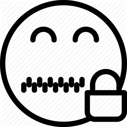 animation, chat, creative, email, emoticon, expression, facial, facial- - Zip Mouth PNG