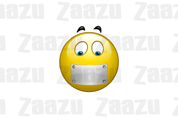 Mouth Shut - Zip Mouth PNG