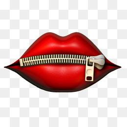 Zip lips. PNG