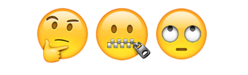 Zipped-Mouth Emoji - Zip Mouth PNG