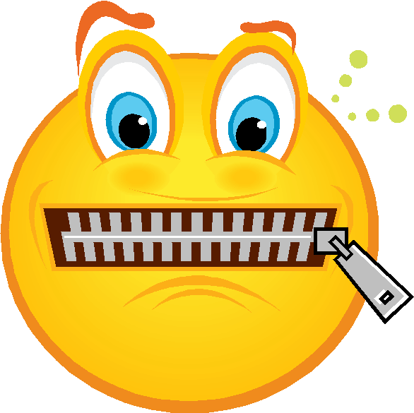 Zipper Cliparts PNG · Zip Lips Clipart - Zip Mouth PNG
