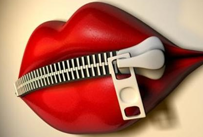 In Other Words, Zip Your Lips! - Zipped Lips PNG