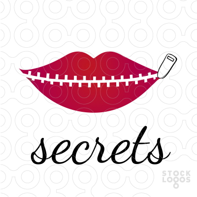 secrets logo zipped lips - Zipped Lips PNG