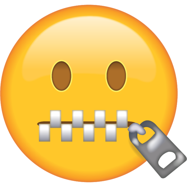 Zipper-Mouth Face Emoji in png. When somebody tells you to shut up or - Zipped Lips PNG