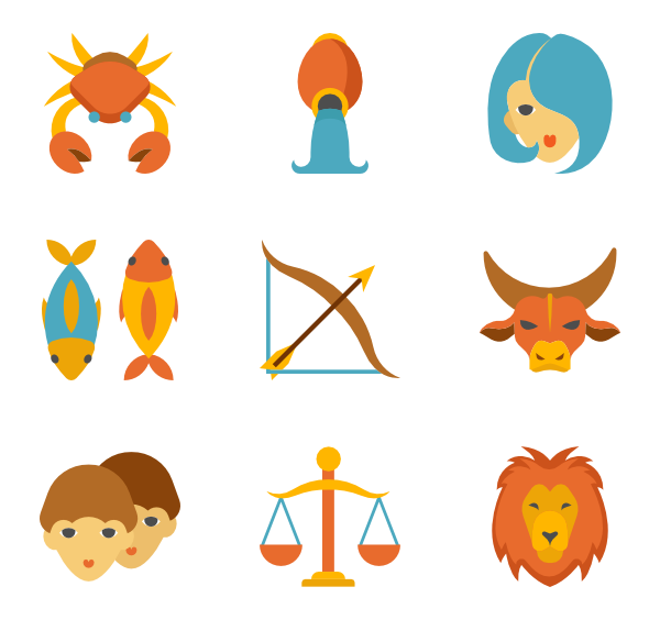 Linear Color Zodiac Signs - Zodiac Signs PNG